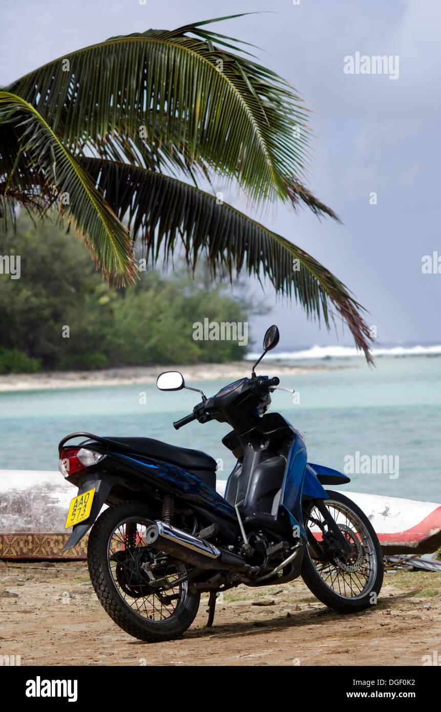 Moto en la playa a Sep 16 2013.Es una de las actividad popular en la isla, pero la licencia de conductor de las Imagen De Stock