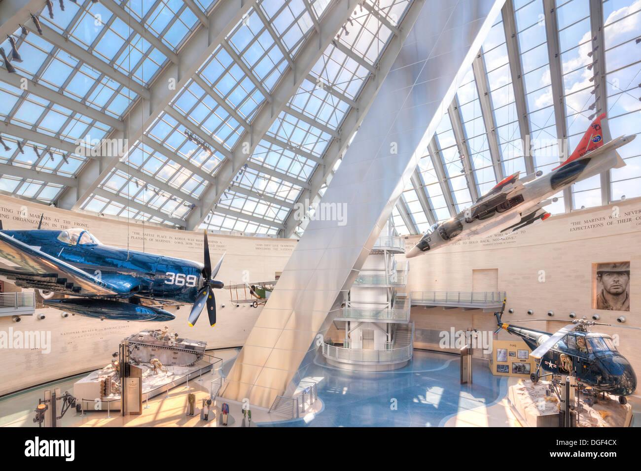 Galería Leatherneck dentro del Museo Nacional de la Marina en triángulo, MCB Quantico, Virginia nos VA EE.UU. Foto de stock