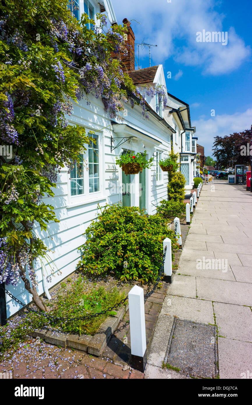 Tablillas o casa weatherboard en Burnham de Crouch. Imagen De Stock