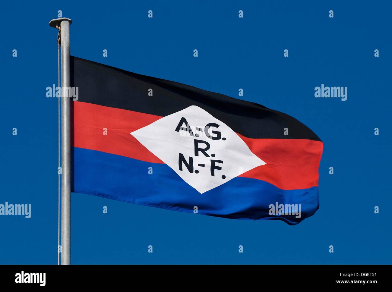Pabellón de la compañía naviera Norden-Frisia, Shipping Corporation Norden-Frisia, Mar del Norte Ferries Imagen De Stock