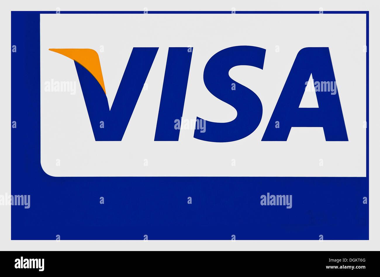 El logotipo de Visa, Visa International Service Association, organización de tarjetas de crédito Imagen De Stock