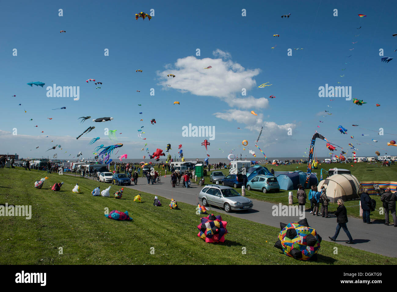 Festival internacional de cometas, Norddeich Drachenfest, Frisia Oriental, Baja Sajonia Imagen De Stock