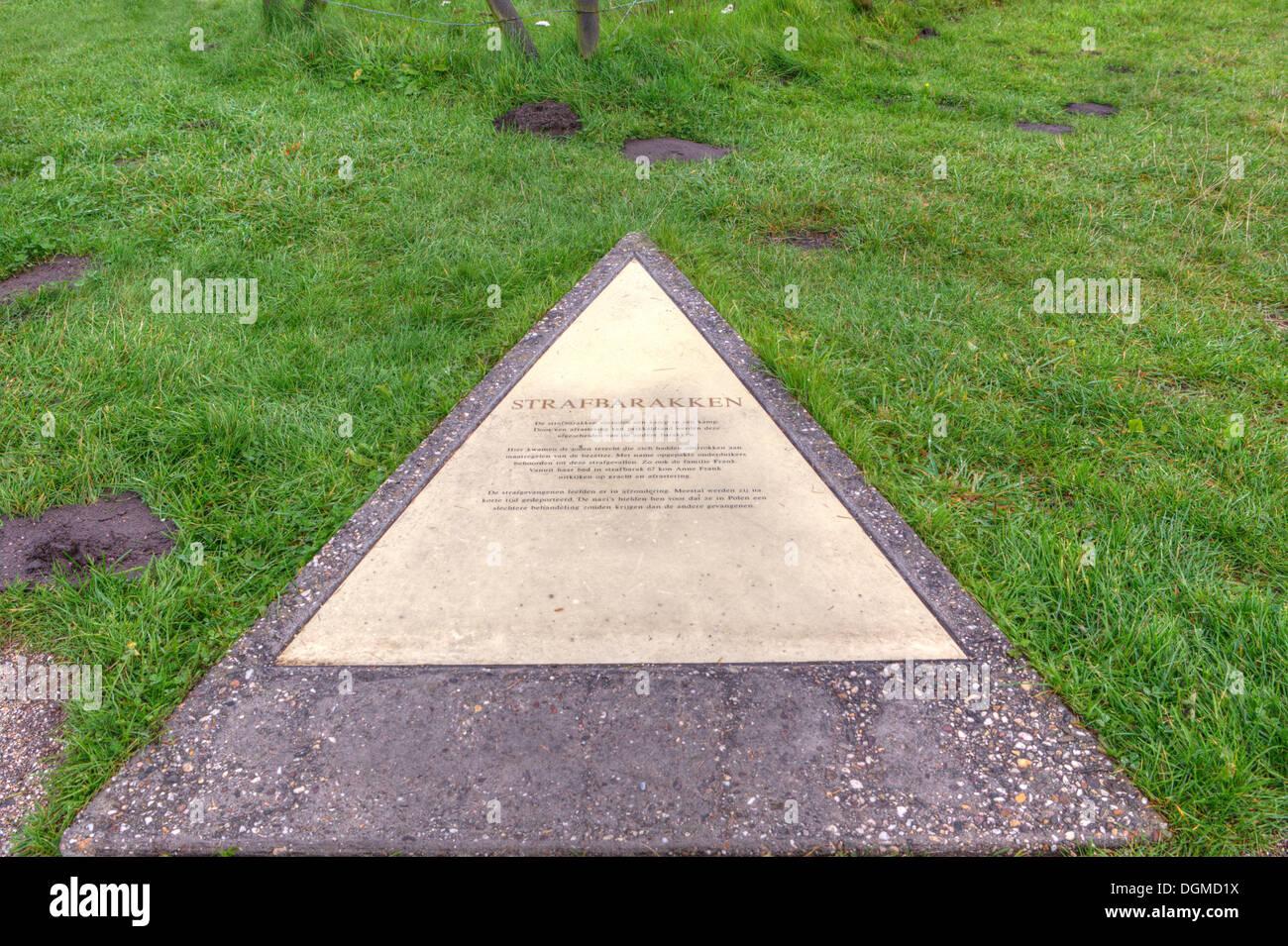 Referencia al cuartel penal en el campo de Westerbork, Países Bajos Imagen De Stock