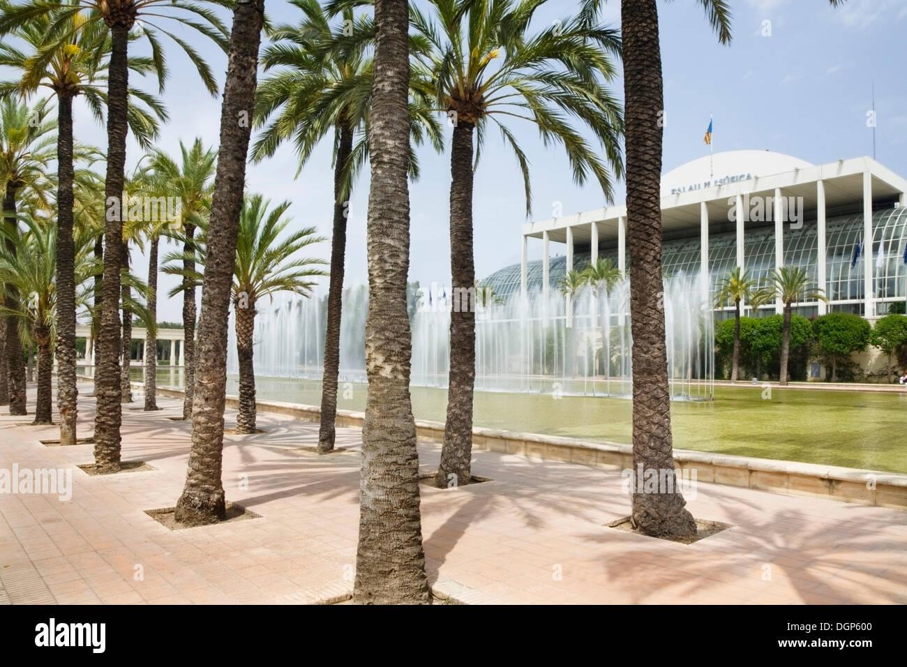 Palau de la música, de la sala de conciertos, Valencia, Comunidad Valenciana, España, Europa Imagen De Stock