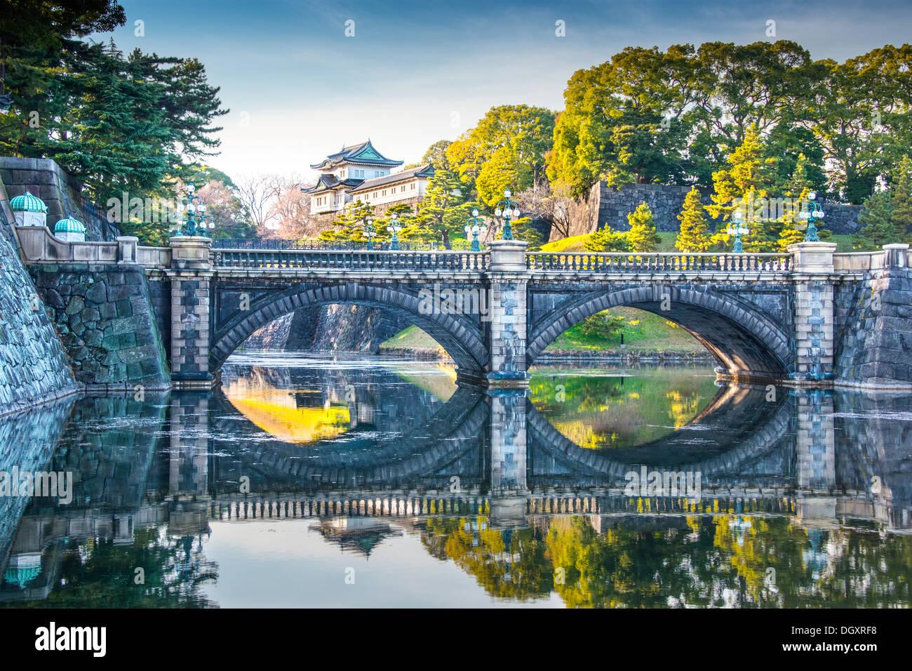 El Palacio Imperial de Tokio, Japón. Imagen De Stock