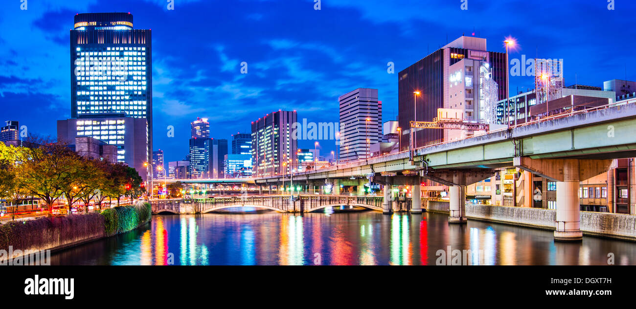 River view en Osaka, Japón. Imagen De Stock