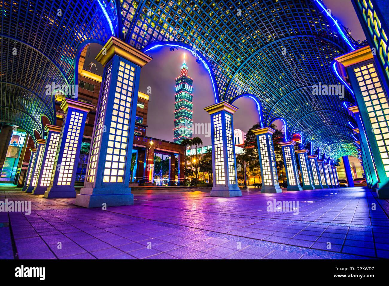 Paisaje urbano en Taipei, Taiwán. Imagen De Stock