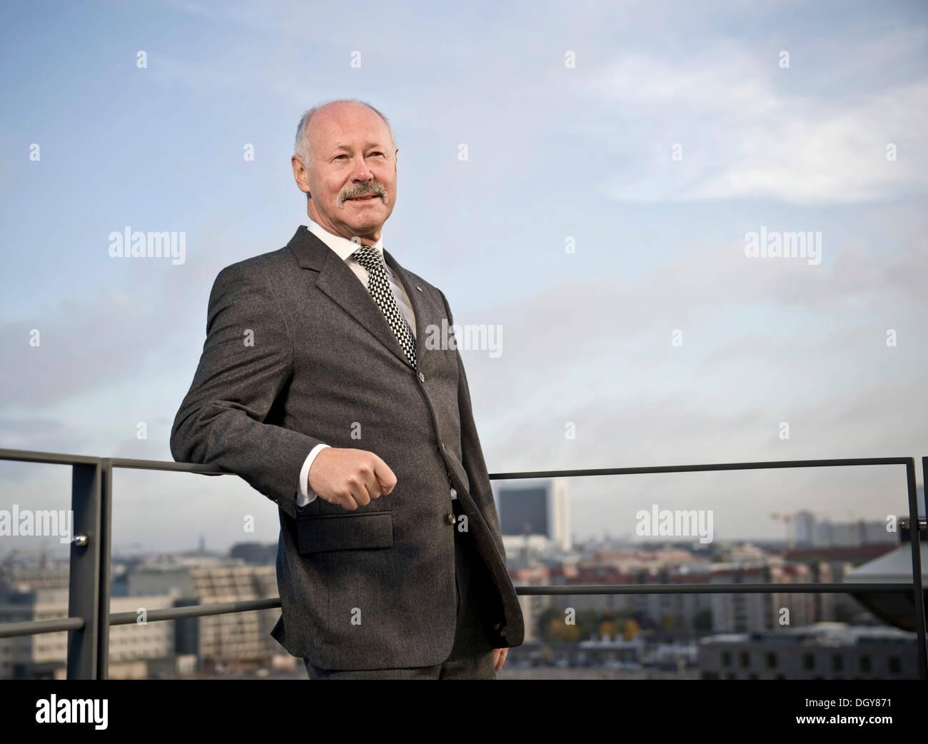 Karl-Heinz Boos, Director de la Asociación Federal de bancos públicos de Alemania o VOeB, Berlín Imagen De Stock
