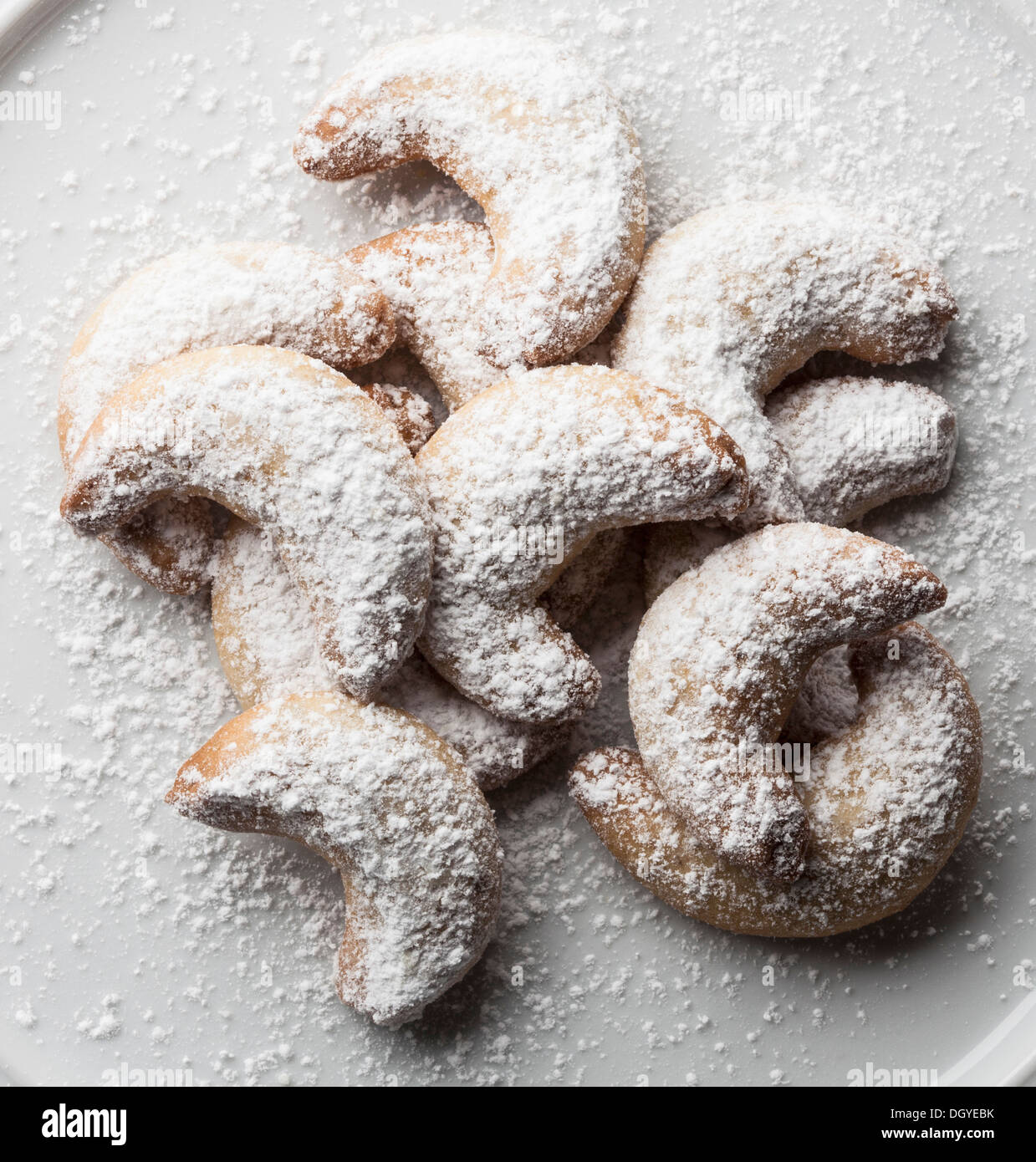 Alemán galletas de vainilla (vainilla kipferl) Imagen De Stock