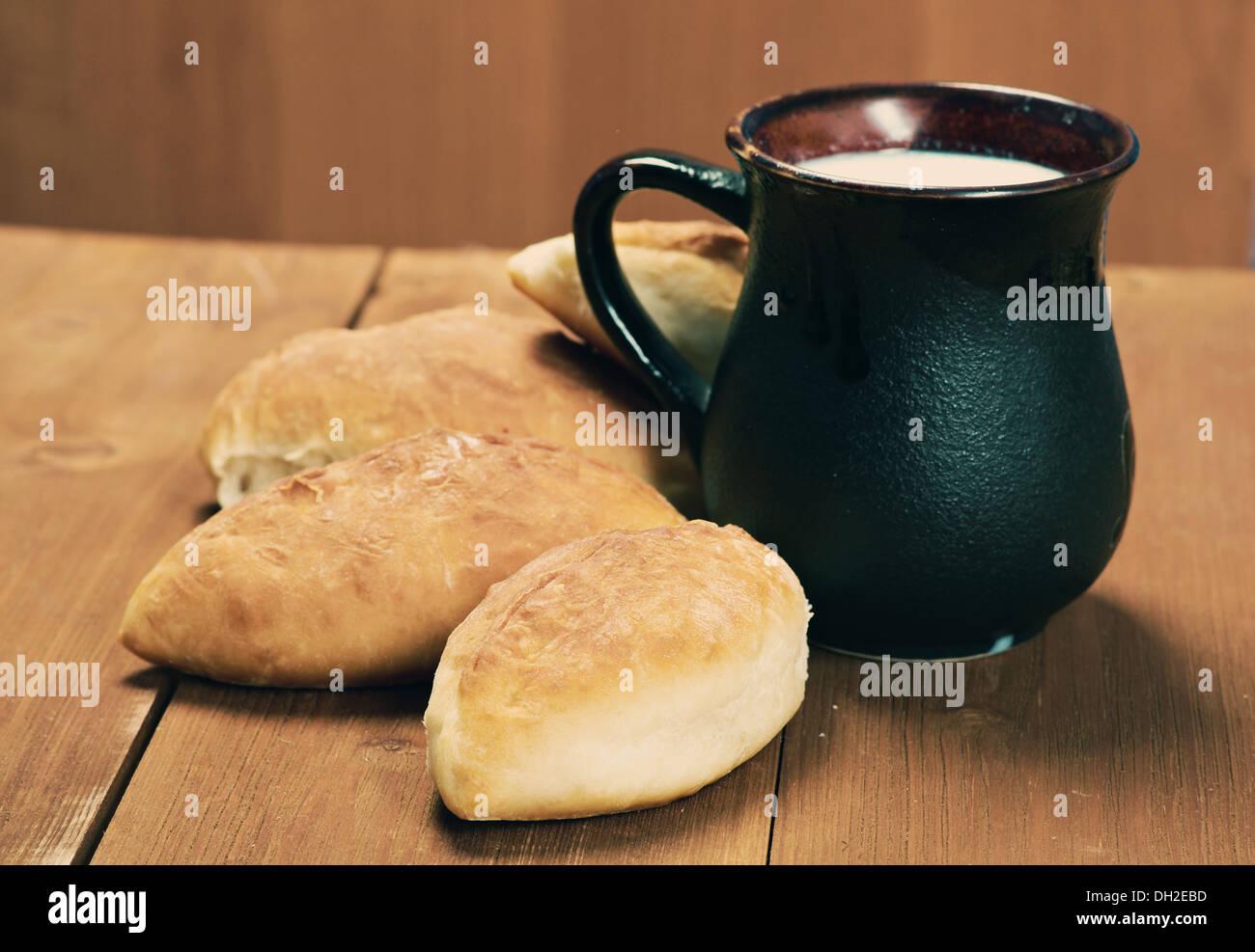Rusia tradiciones pierog.Home pastel Imagen De Stock