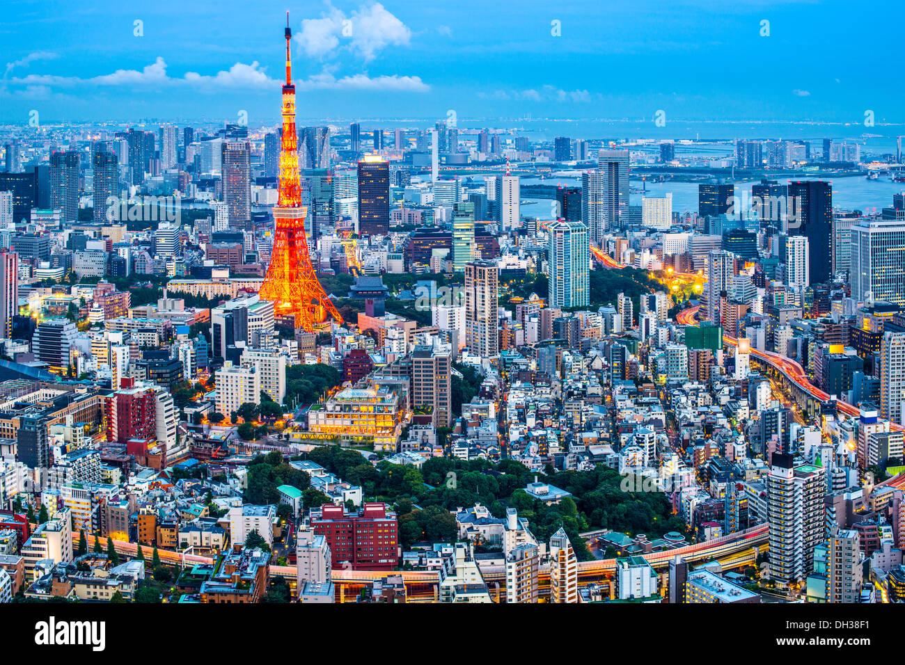 La Torre de Tokio en Tokio, Japón Imagen De Stock