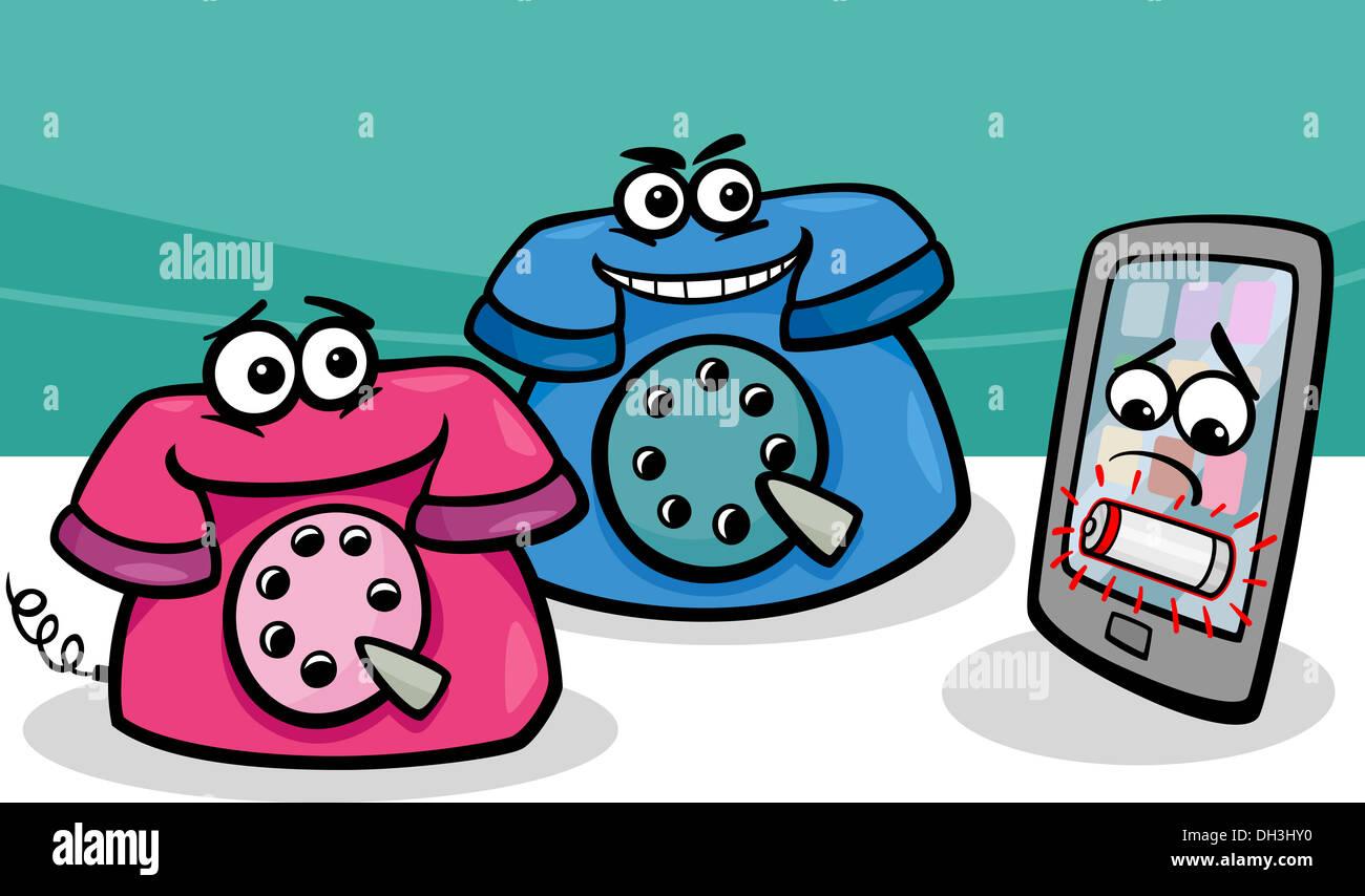 Ilustración De Dibujos Animados De La Descarga De Smart Phone O