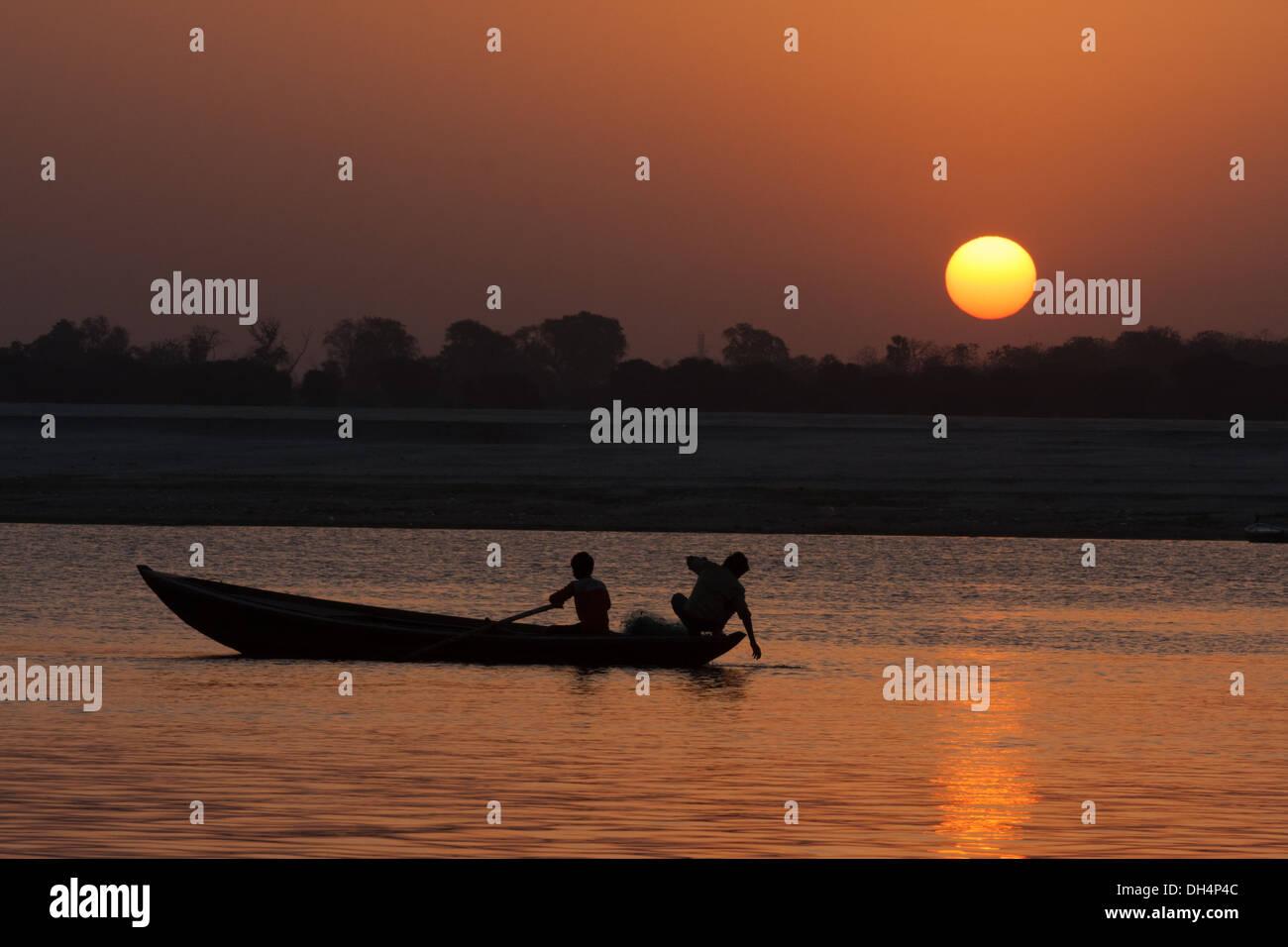 Ganger River en Sunrise Imagen De Stock