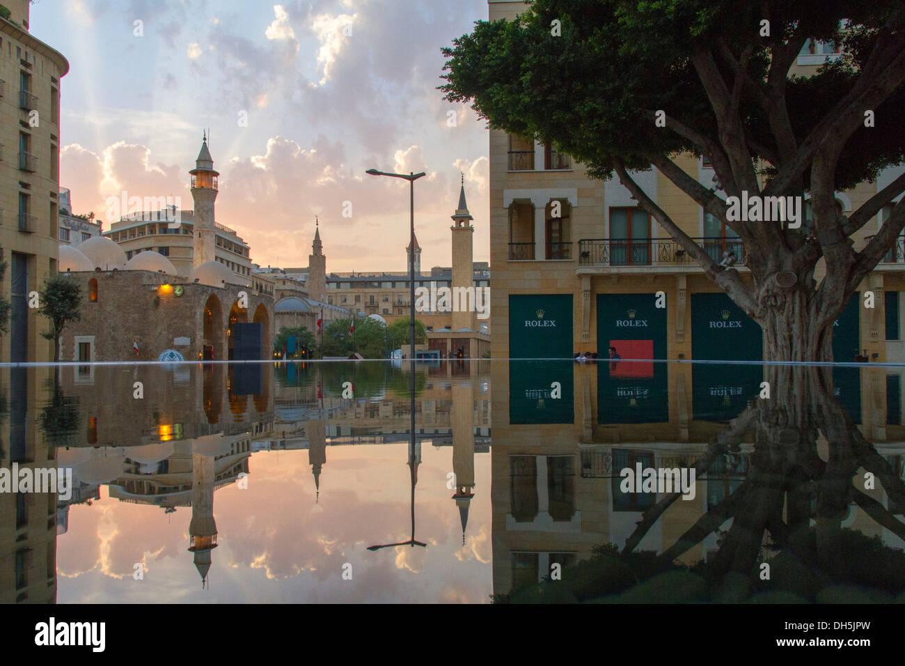Amir Assaf mezquita en el Distrito Central de Beirut, Beirut, Líbano Imagen De Stock