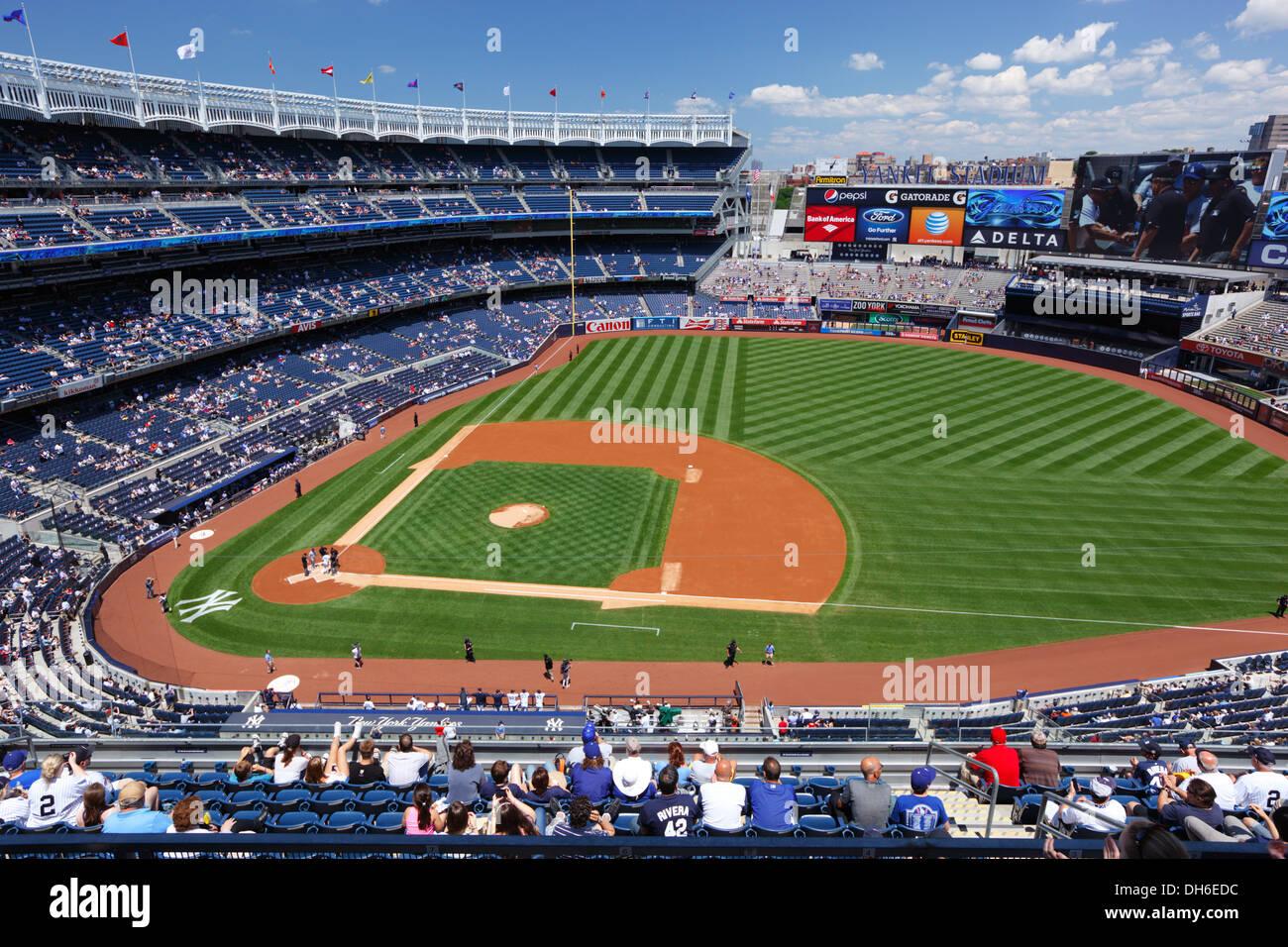 El Yankee Stadium, en el Bronx, Nueva York, Estados Unidos. Imagen De Stock