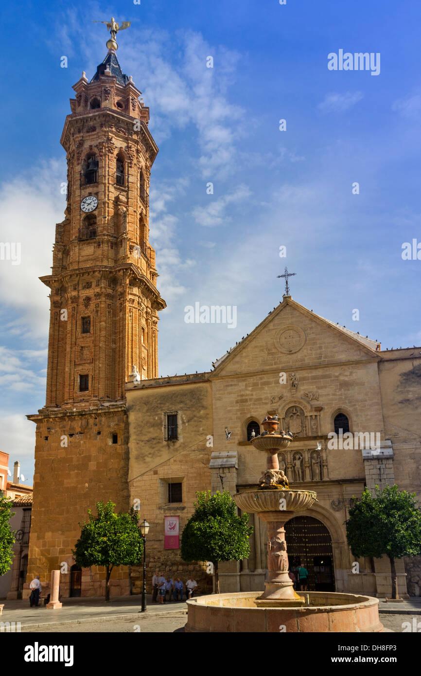 ANTEQUERA SPAIN la iglesia colegial de San Sebastián en la plaza de San Sebastián Imagen De Stock
