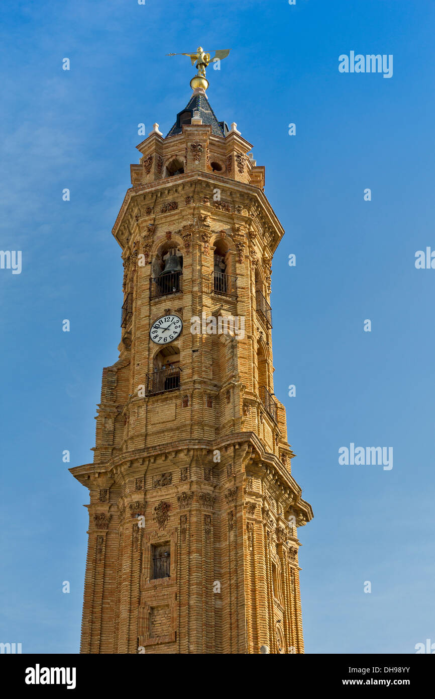 Detalle de la torre iglesia colegial de San Sebastián Antequera Spain Imagen De Stock