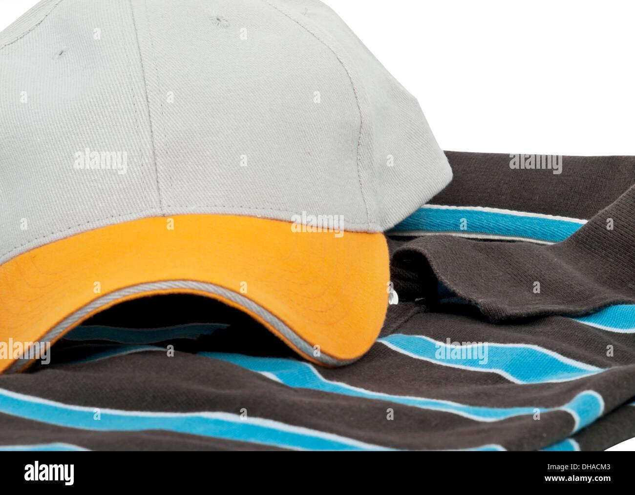 Gorra de béisbol y POLO MANGA CORTA Camiseta Imagen De Stock