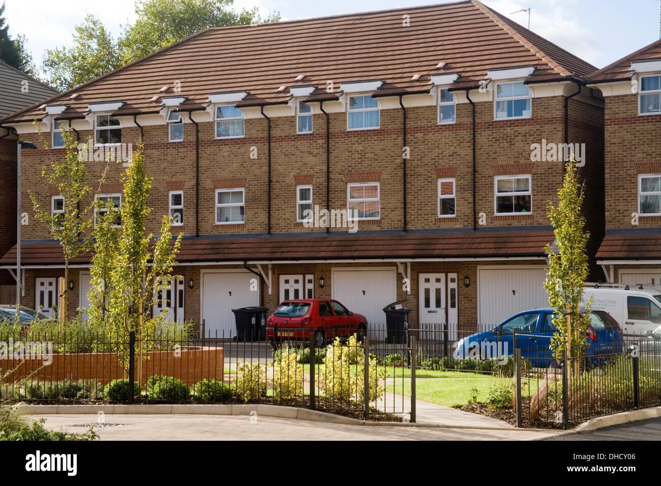 Nuevas viviendas eficientes de energía asequible en Londres Foto de stock