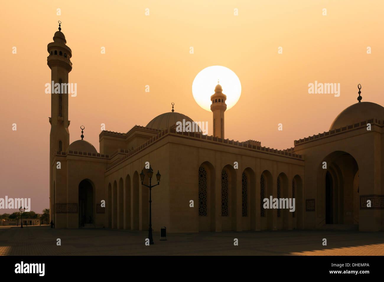 La Gran Mezquita Al Fateh, Manama, Bahrein, Oriente Medio Imagen De Stock