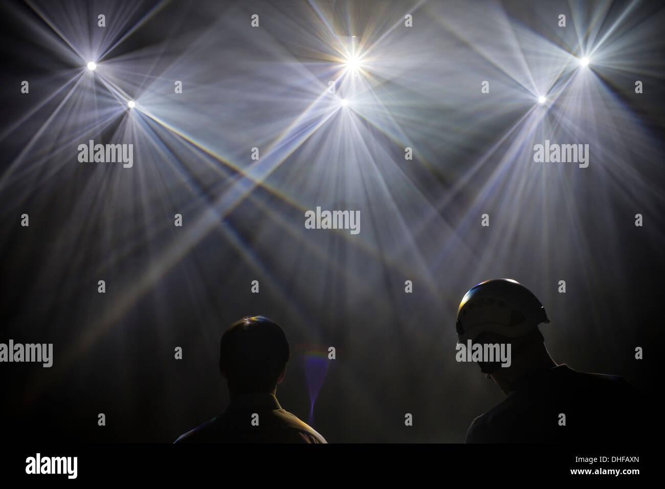 Láser, luz, espectáculo, club, discotecas, night, abstracto, una discoteca, un telón de fondo, el brillo, la ilusión, Foto de stock