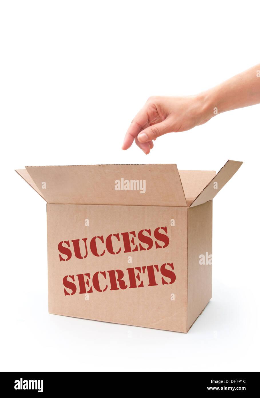 Los secretos del éxito concepto Imagen De Stock