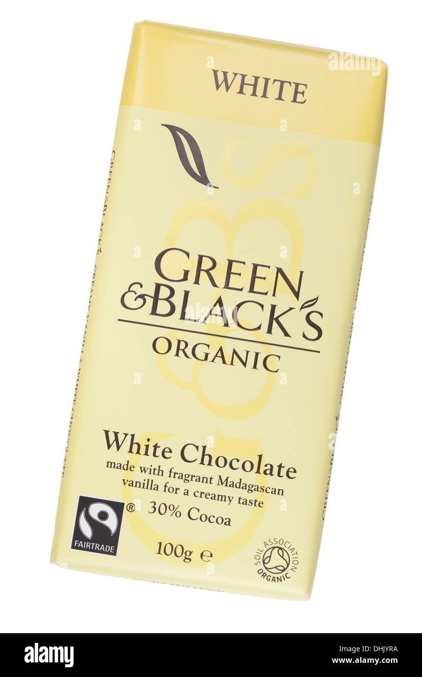 Verdes y Negros barra de chocolate Imagen De Stock