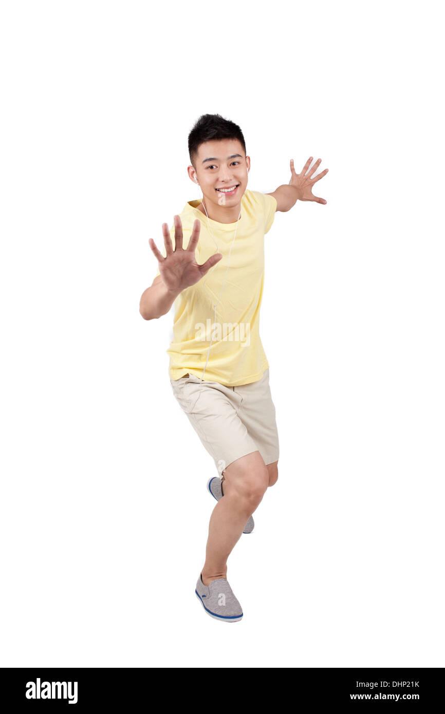 Retrato de un hombre joven Foto de stock