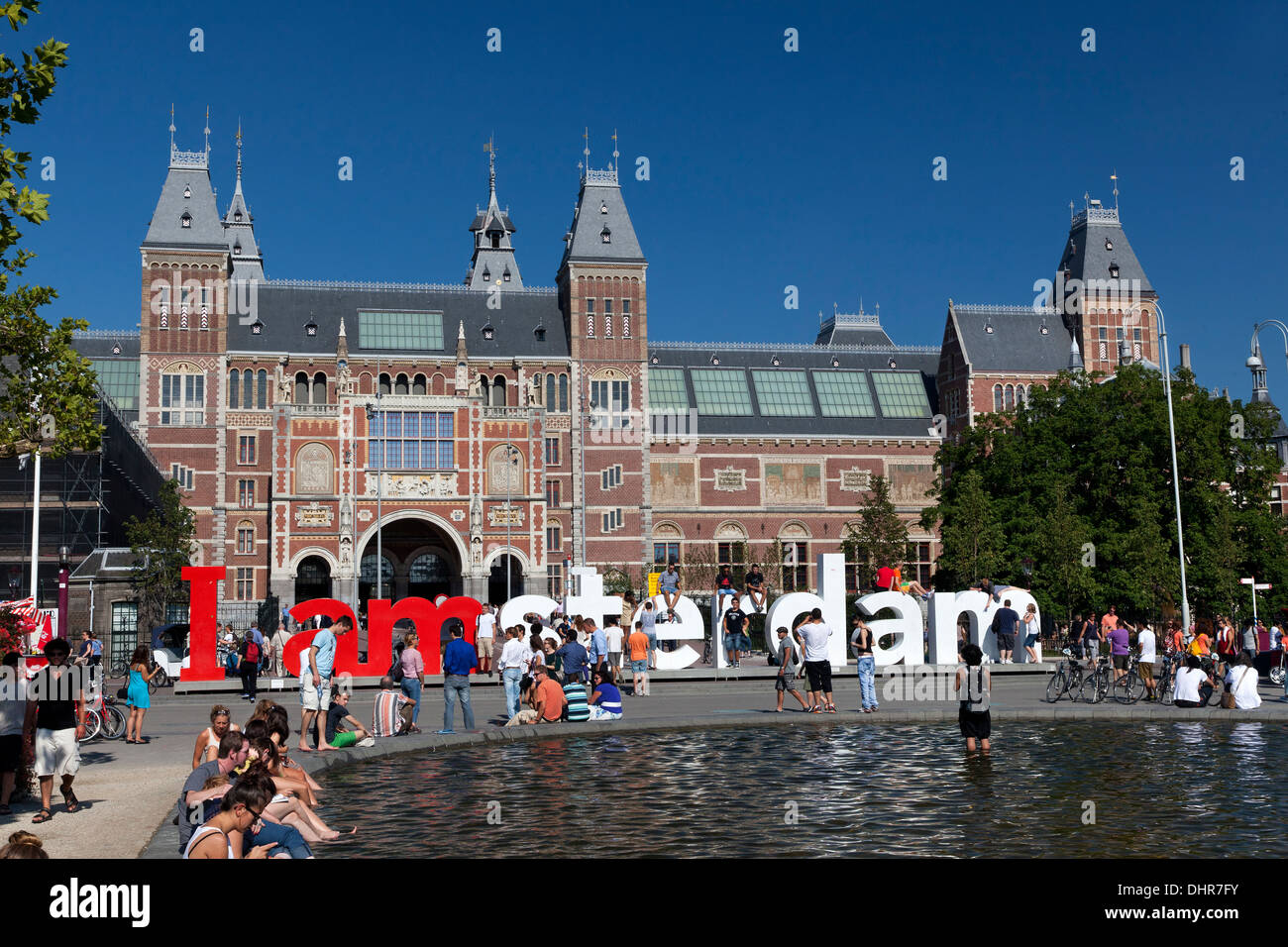 Rijksmuseum de Amsterdam en Amsterdam, Países Bajos Imagen De Stock
