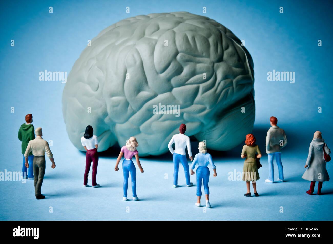 Enfermedades del cerebro y la psicología concepto Imagen De Stock