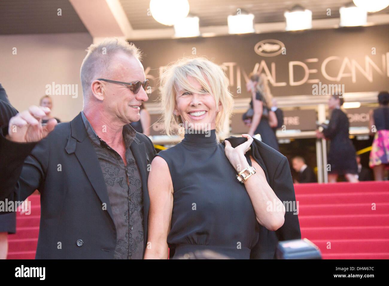 Sting y su esposa Trudie Styler, 'Mud' estreno durante el 65º Festival Anual de Cine de Cannes. Cannes, Francia - 26.05.12 Imagen De Stock