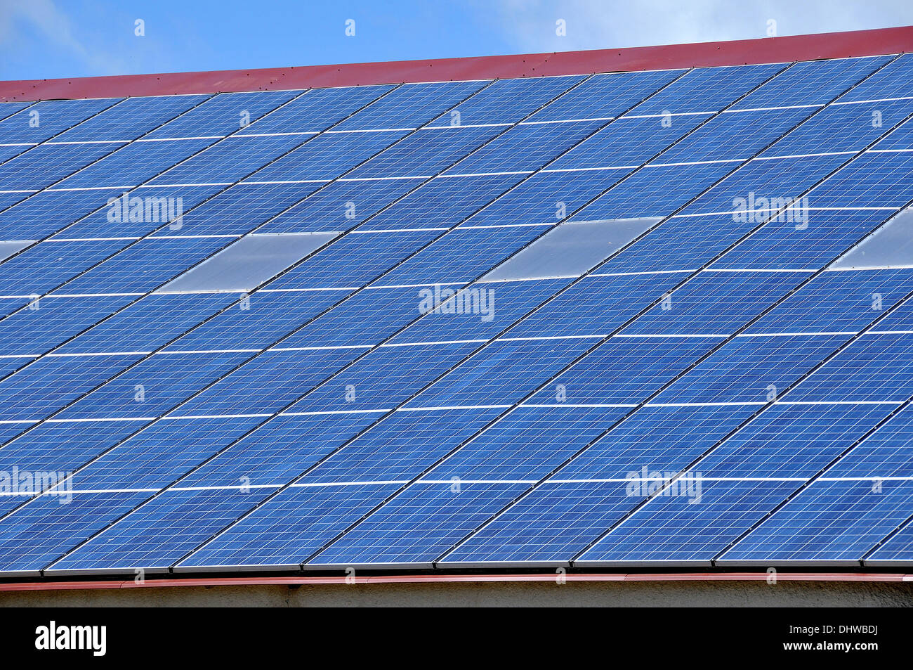 Paneles solares. Imagen De Stock