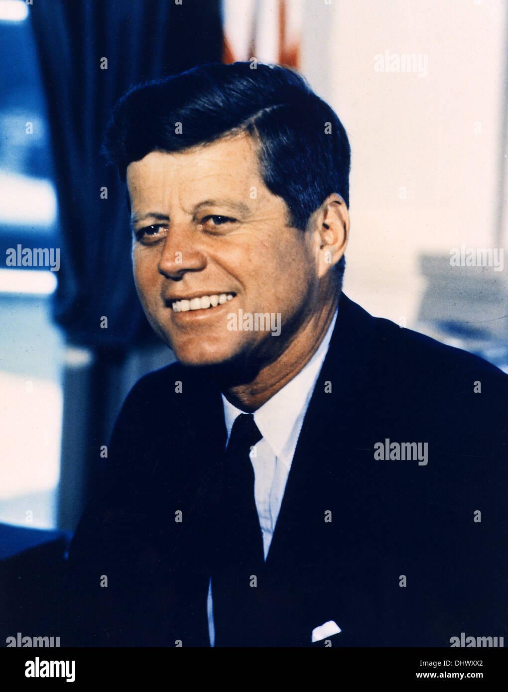 El Presidente John F. Kennedy, el Presidente norteamericano JFK Foto de stock