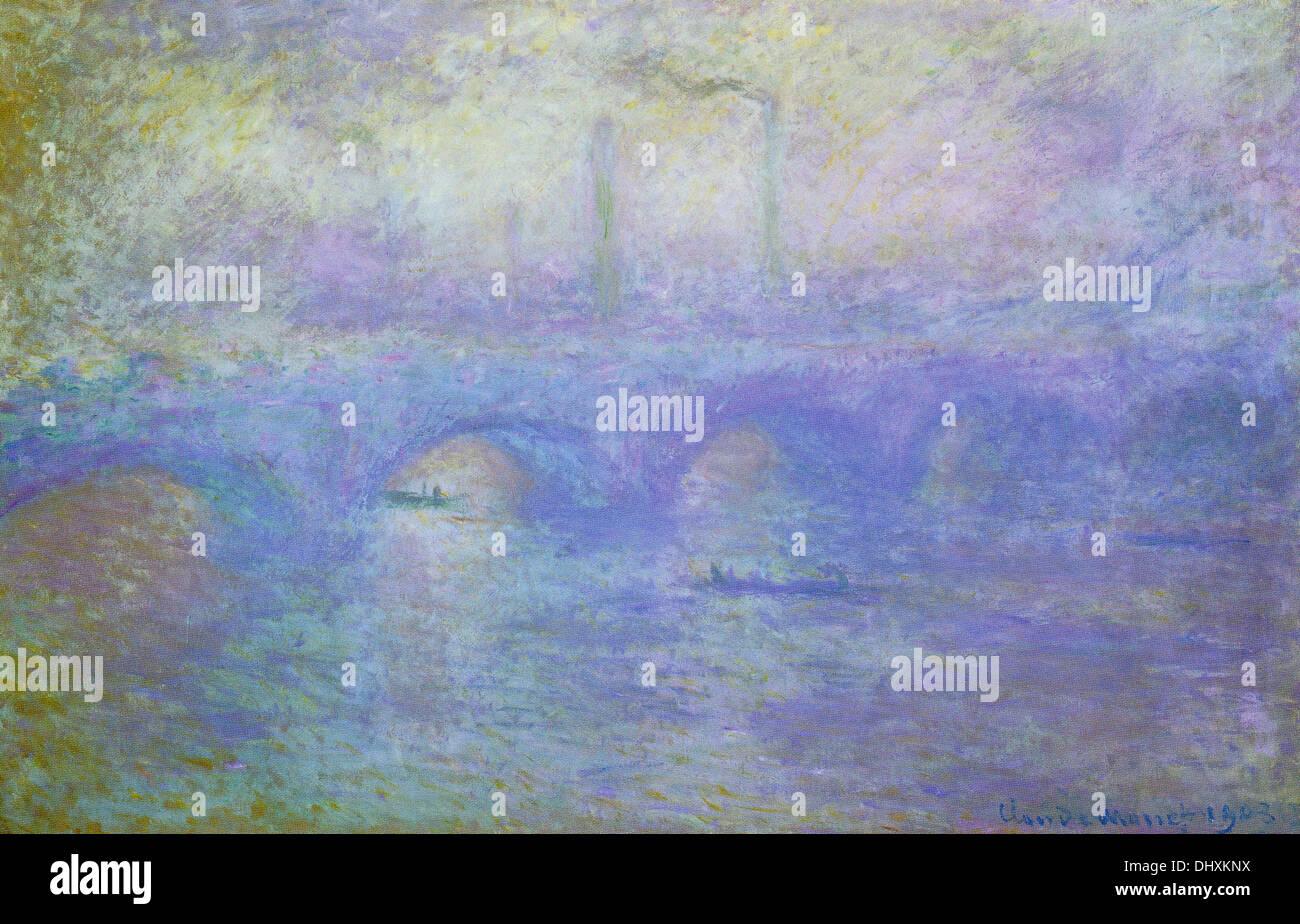 Waterloo Bridge, Londres - por Claude Monet, 1903 Imagen De Stock