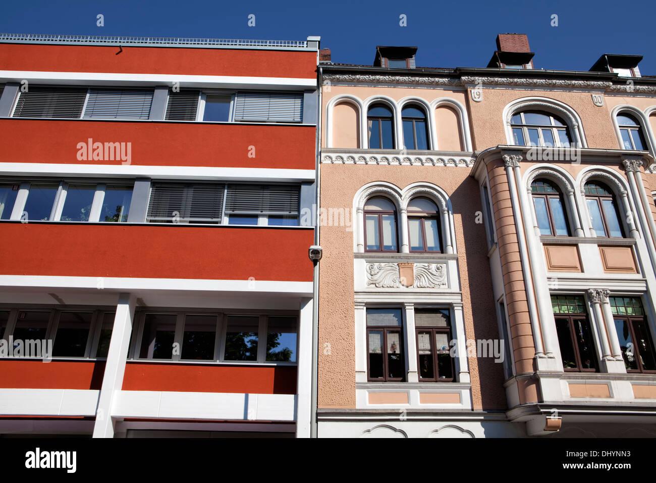 La arquitectura histórica, Linden, Hannover, Baja Sajonia, Alemania, Europa Imagen De Stock