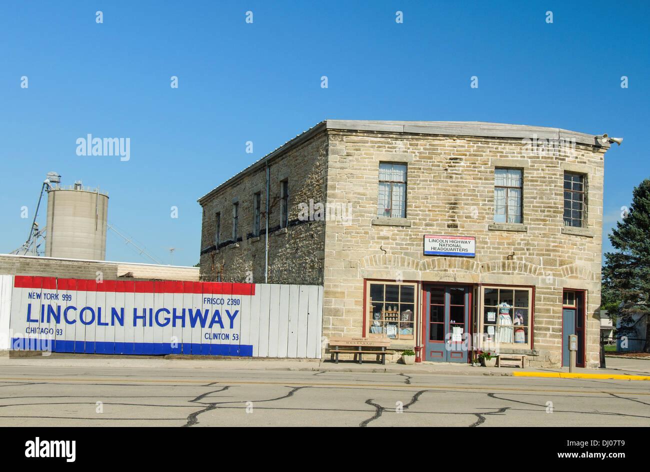El Lincoln Highway Asociación Nacional sede en Frankfort, Illinois, una ciudad a lo largo de la Lincoln Highway Imagen De Stock