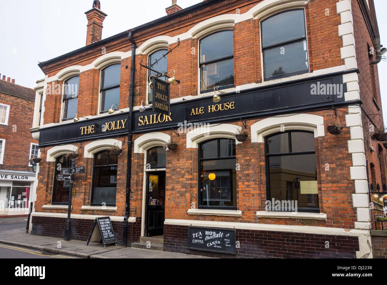 El el pub Jolly Sailor Ale House Canterbury Kent Imagen De Stock