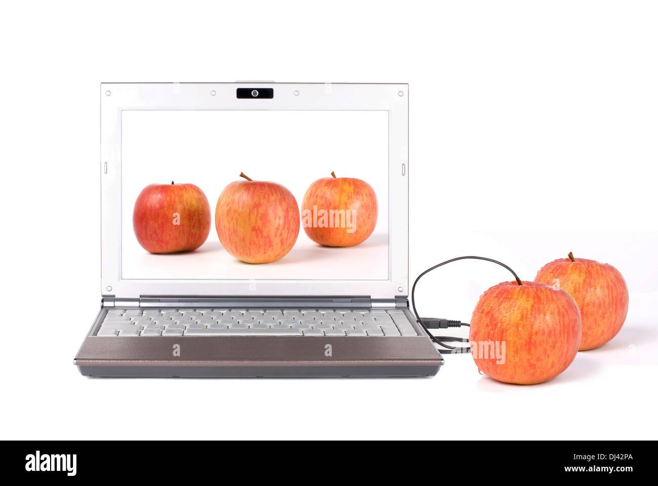 Descargar real apple Imagen De Stock