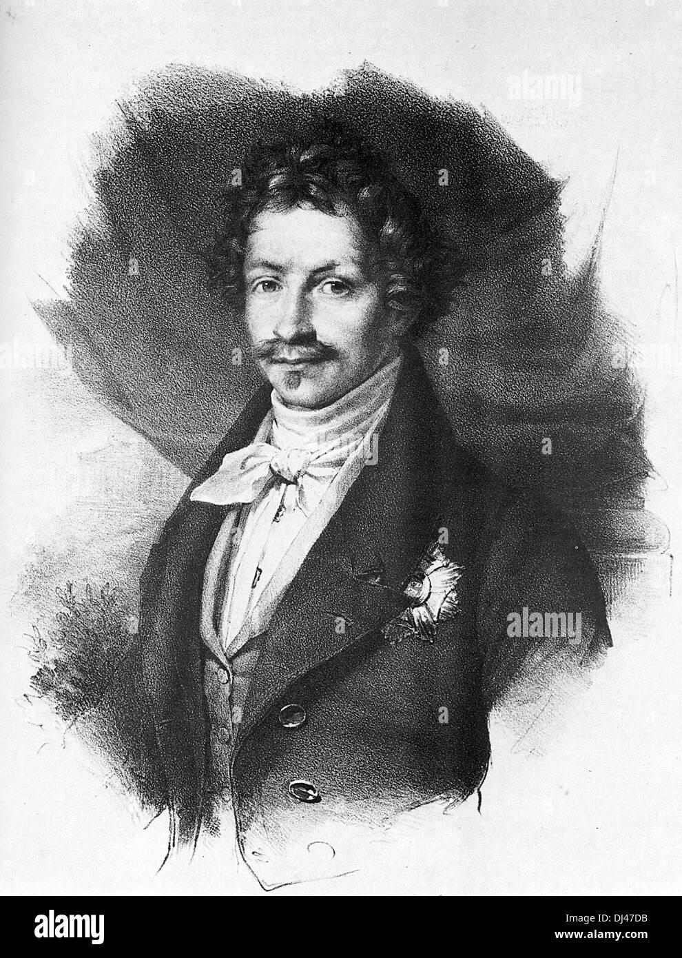 El rey Luis I de Baviera, Luis I Foto de stock