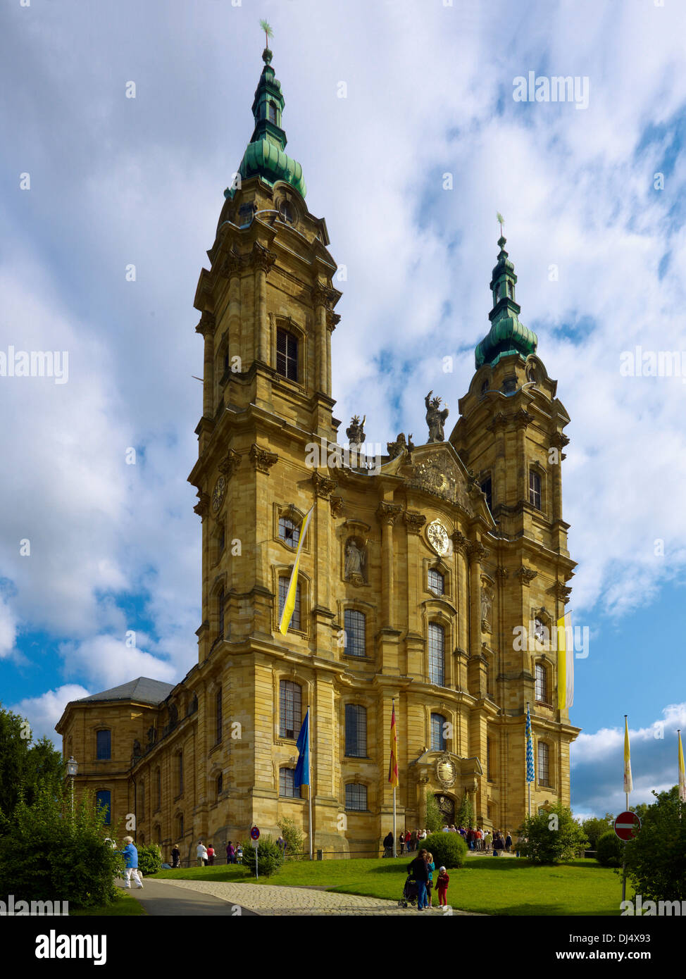 La iglesia de peregrinación de los catorce Ayudantes Santo, Bad Staffelstein, Alta Franconia, Baviera, Alemania Imagen De Stock
