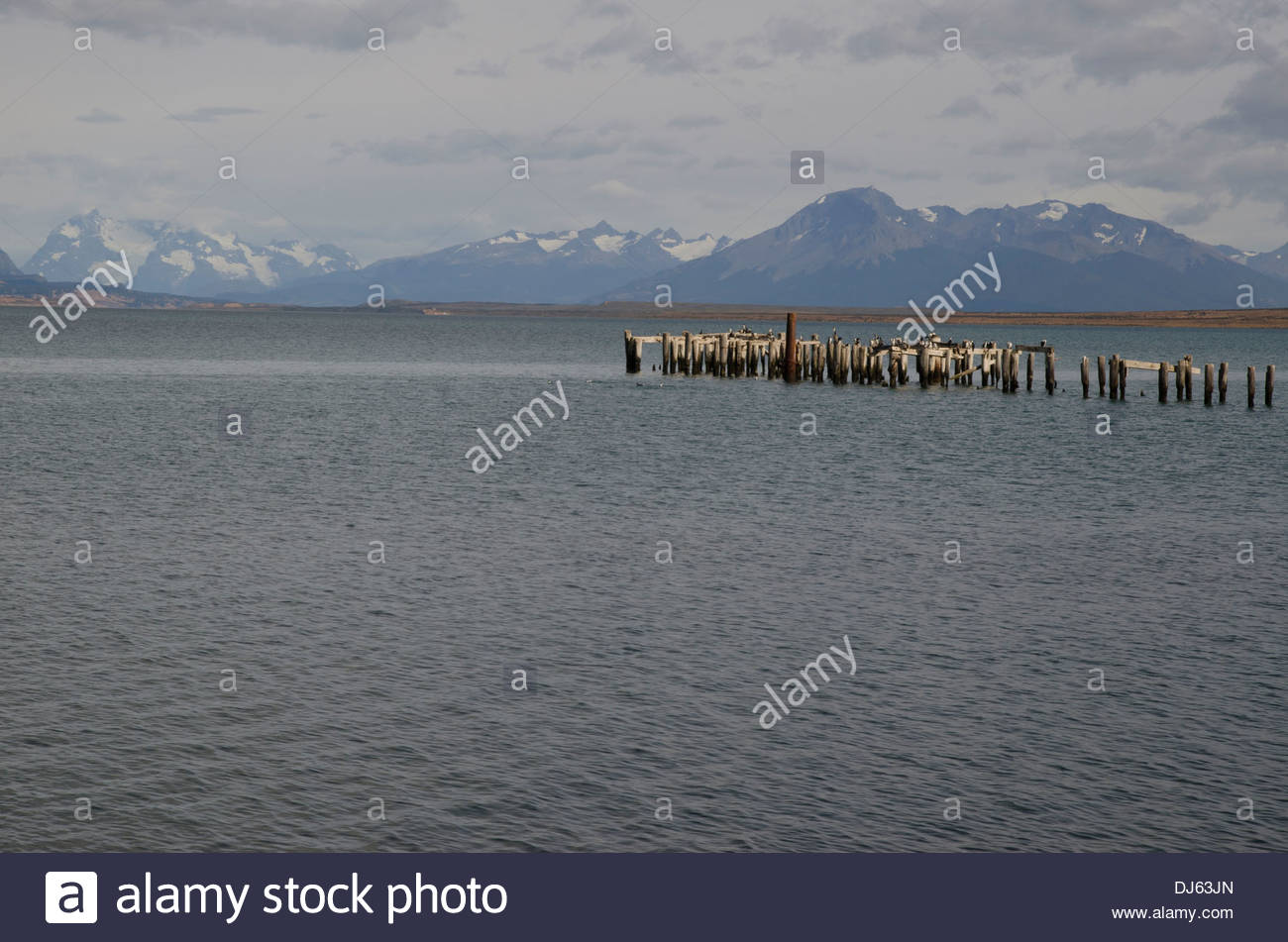 Seno Última Esperanza (vista desde Puerto Natales). Imagen De Stock
