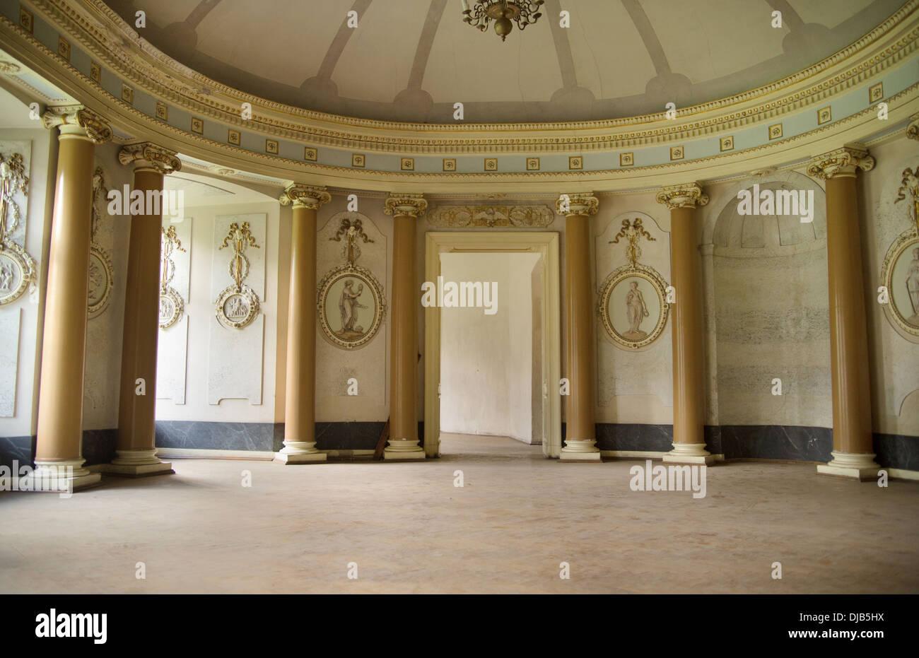 Bonita foto del antiguo brillante interior Imagen De Stock