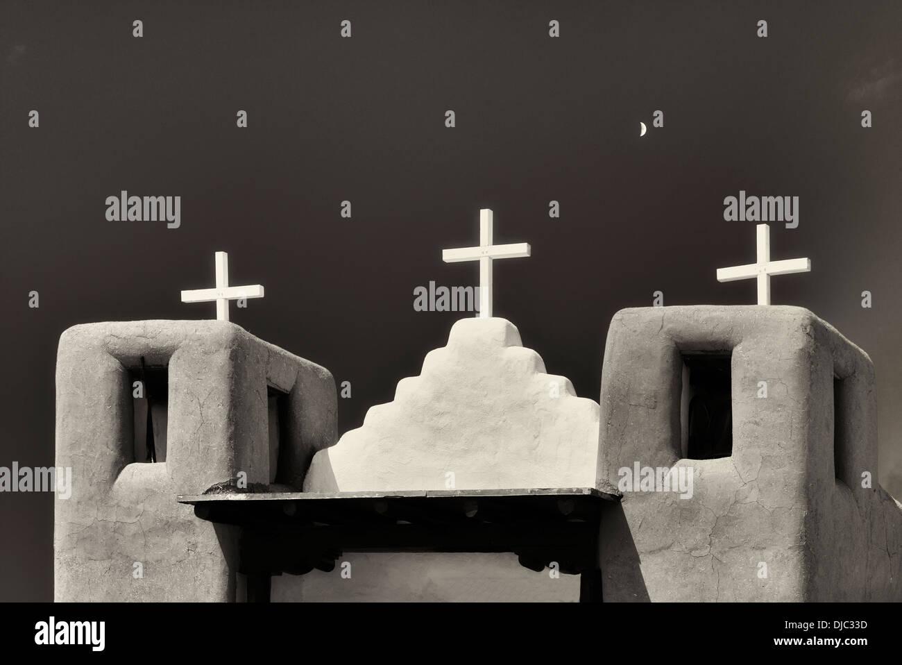 San Geronimo Iglesia en el pueblo de Taos. Taos, Nuevo México. Imagen De Stock