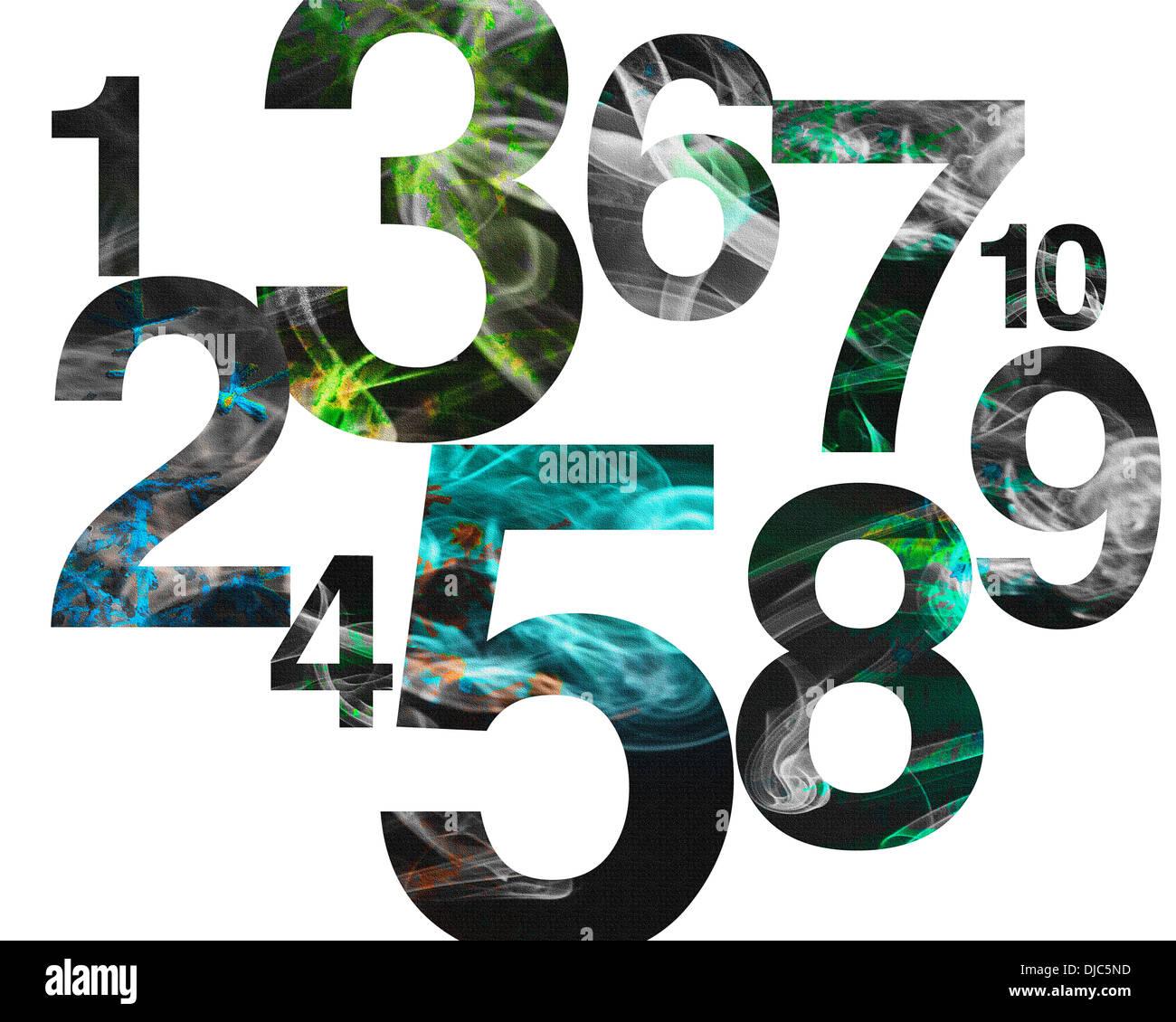 Diseño gráfico: NUMB3RS Imagen De Stock