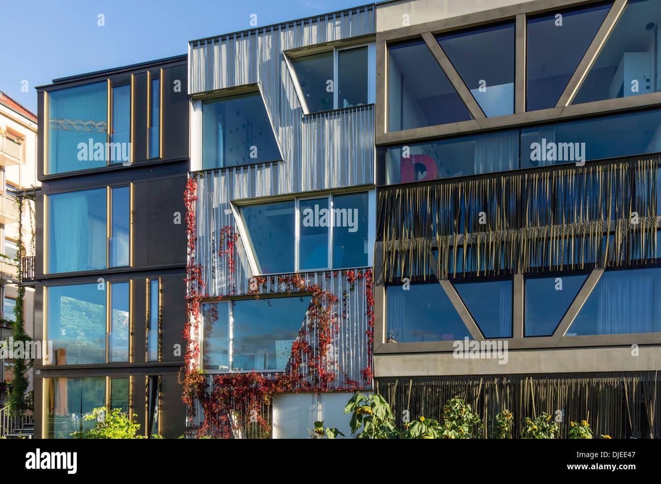 Arquitectura moderna, Prenzlauer Berg, Berlín Imagen De Stock
