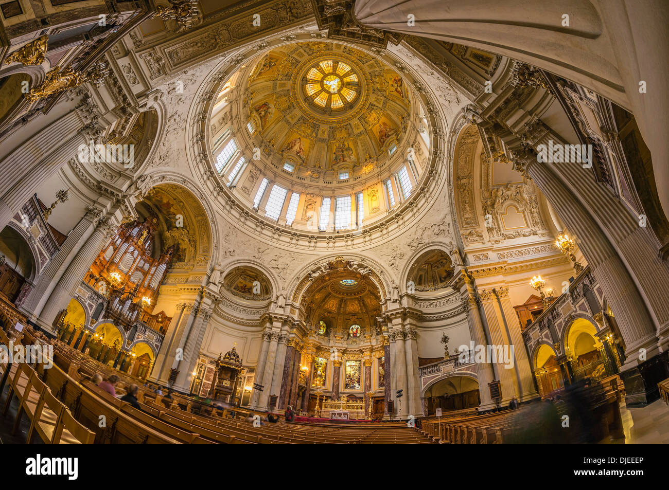 Dome interieur, cúpula, Berlín, Alemania Foto de stock