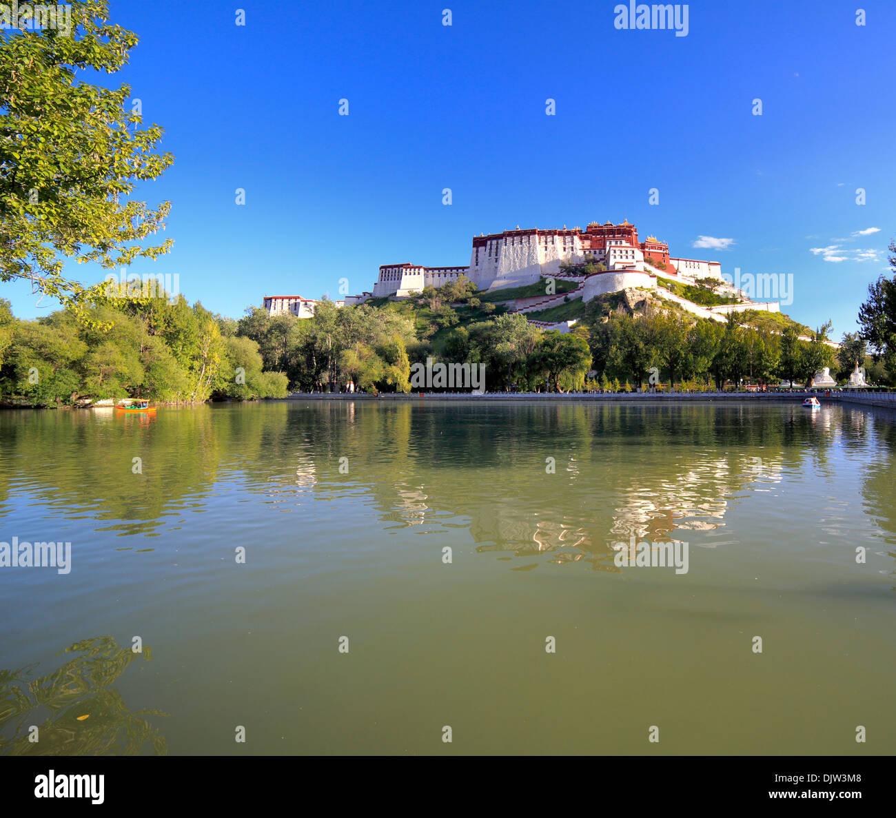 Palacio de Potala, Lhasa, Tíbet, China Imagen De Stock
