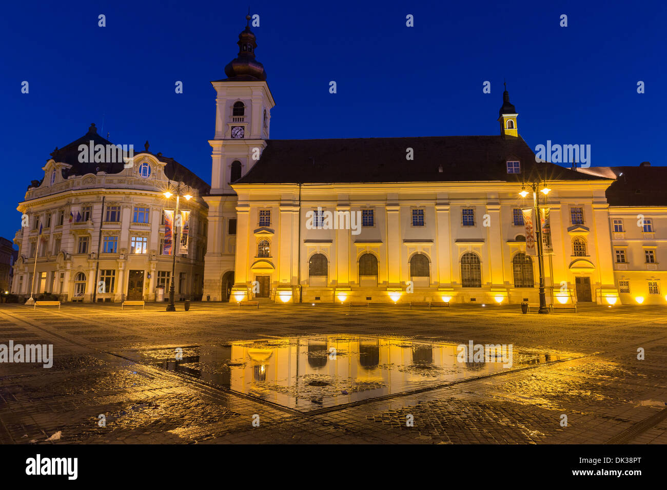 Plaza principal, Sibiu, Rumania Imagen De Stock