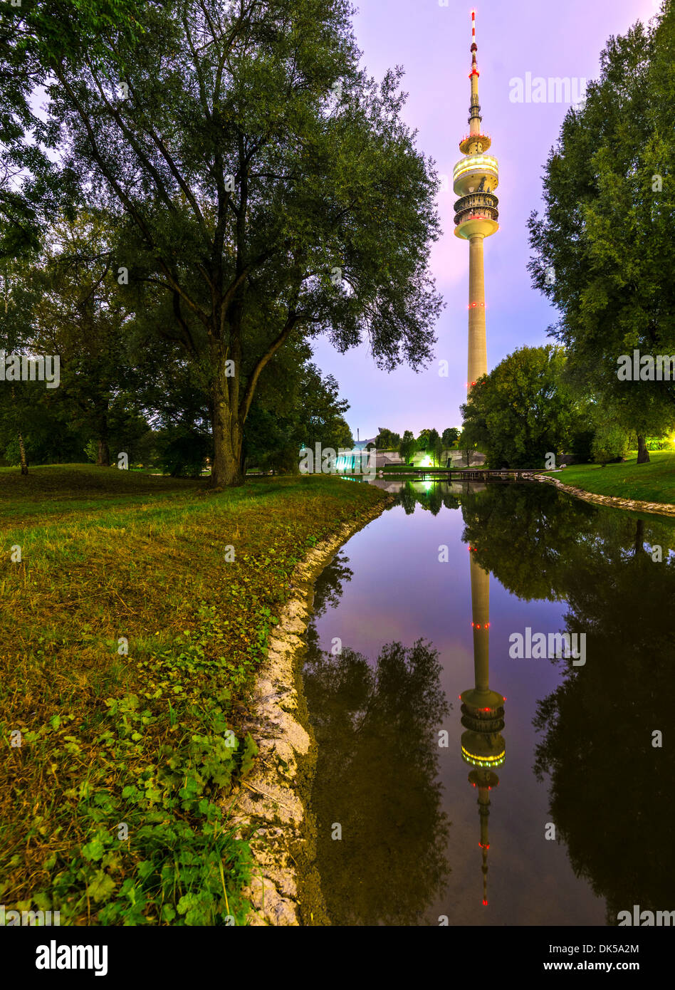 Olympia Park en Munich, Alemania. Imagen De Stock