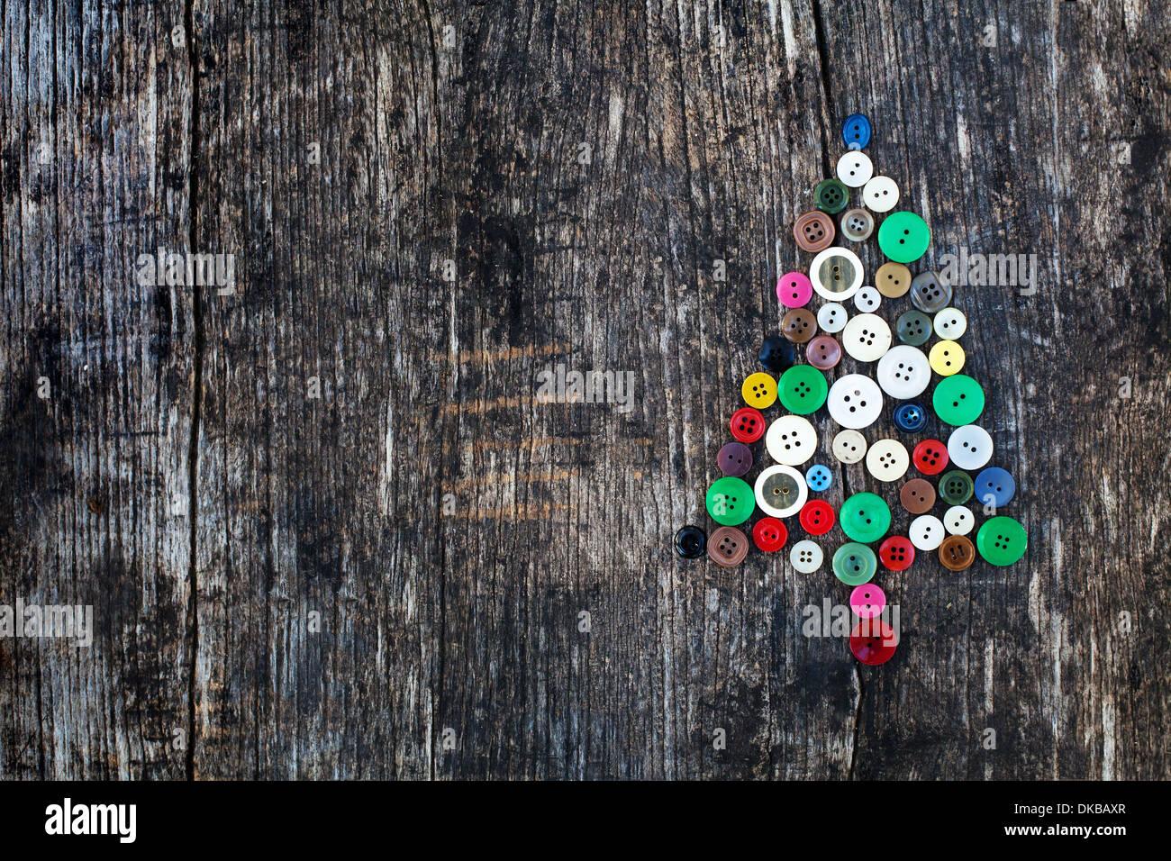 Fondo del año nuevo con el árbol de navidad Imagen De Stock
